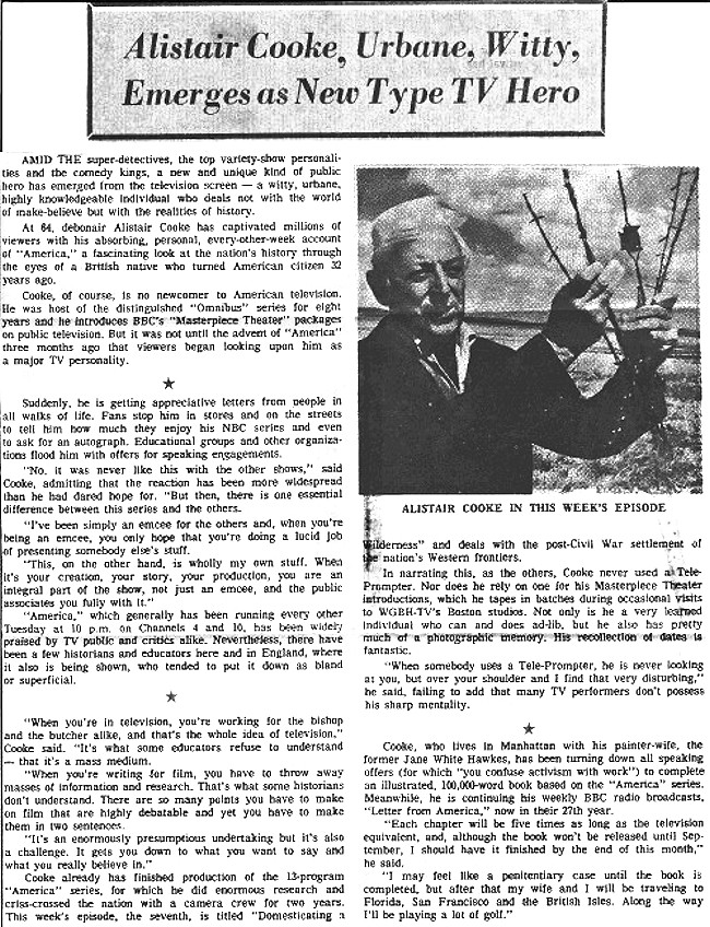 article about Alistair Cooke